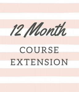 12 Month Course Extension